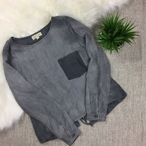 Cloth & Stone Tie Back Blouse